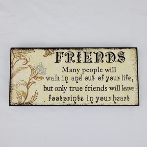 Friends Wood Wall Decor